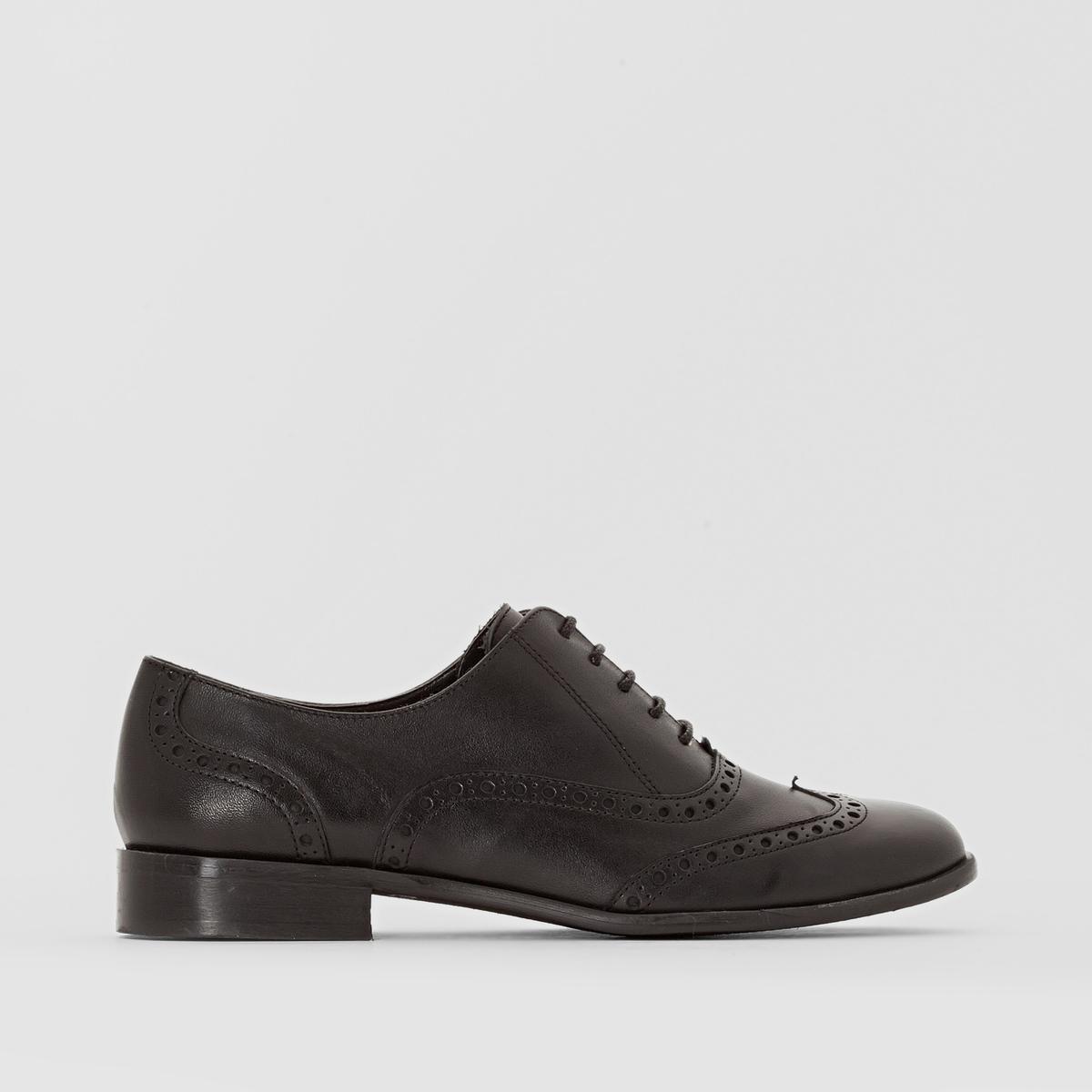 Ботинки-дерби кожаные на широкую ногу, размеры 38-45
