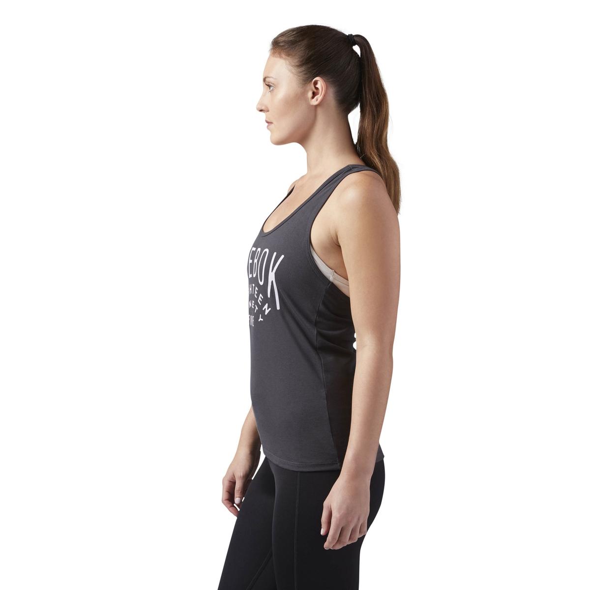 Imagen secundaria de producto de Camiseta sin mangas con cuello redondo y estampado - Reebok