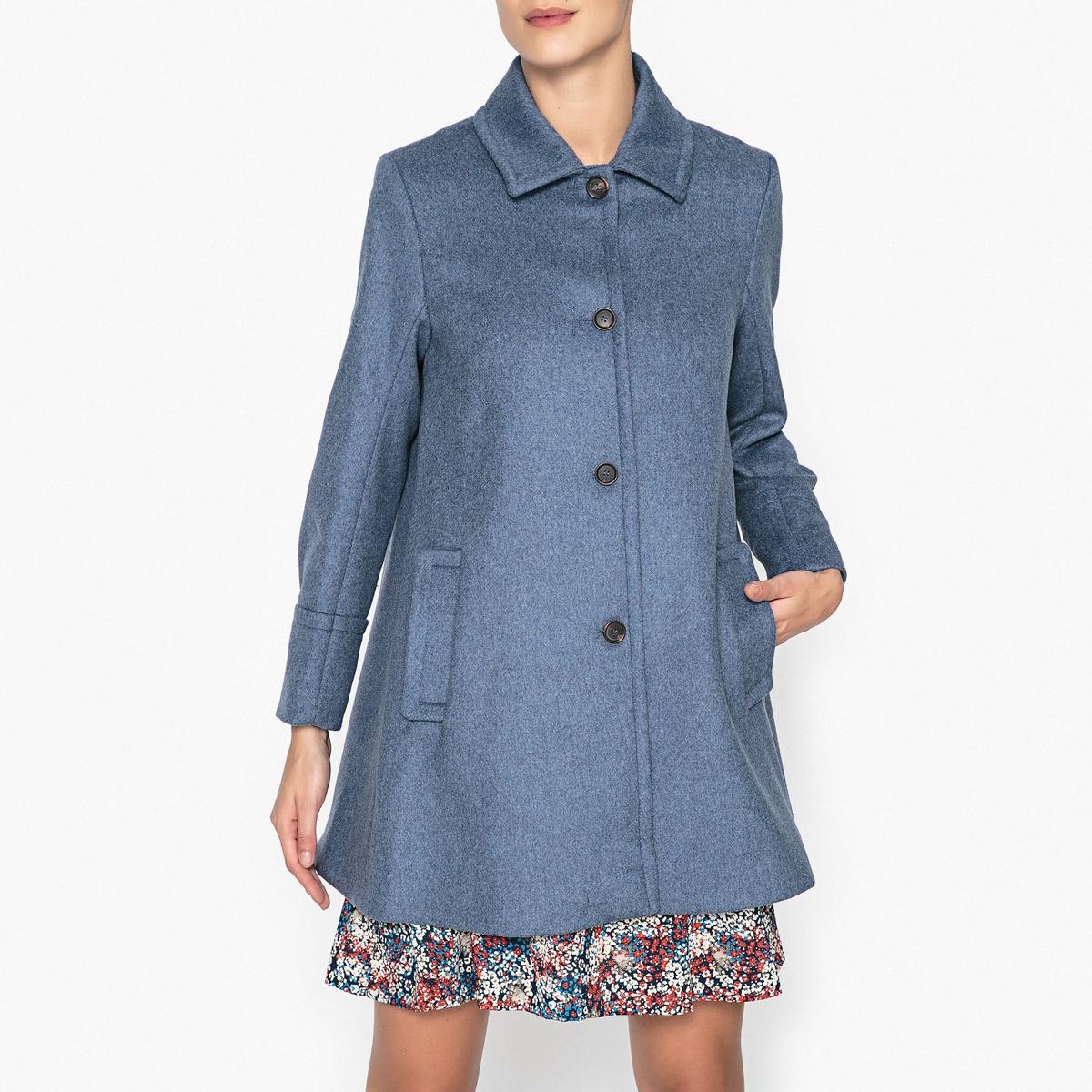 Пальто-трапеция BOURGEOIS пальто фасона трапеция 60% шерсти