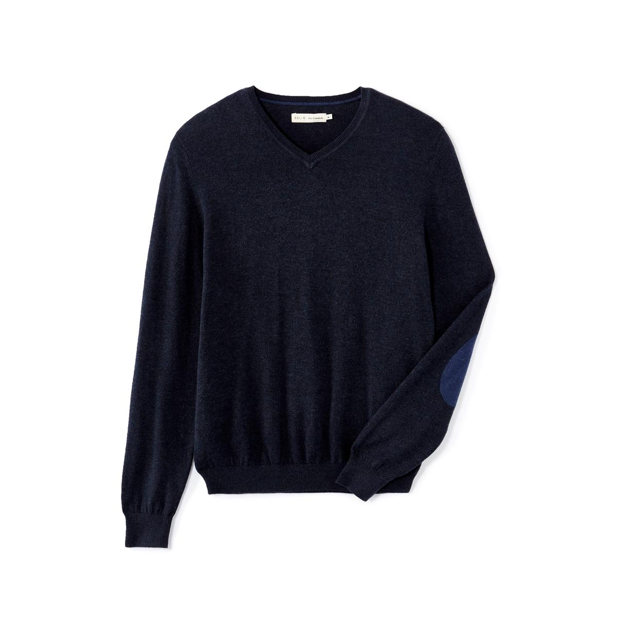Пуловер с налокотниками Fever
