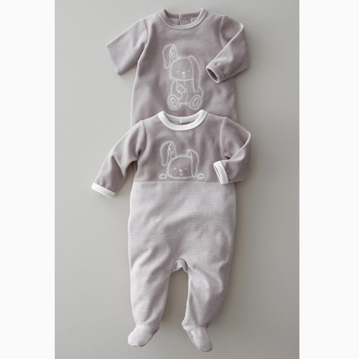 Пижама с носочками, 0 месяцев -3 года (компленкт из 2)