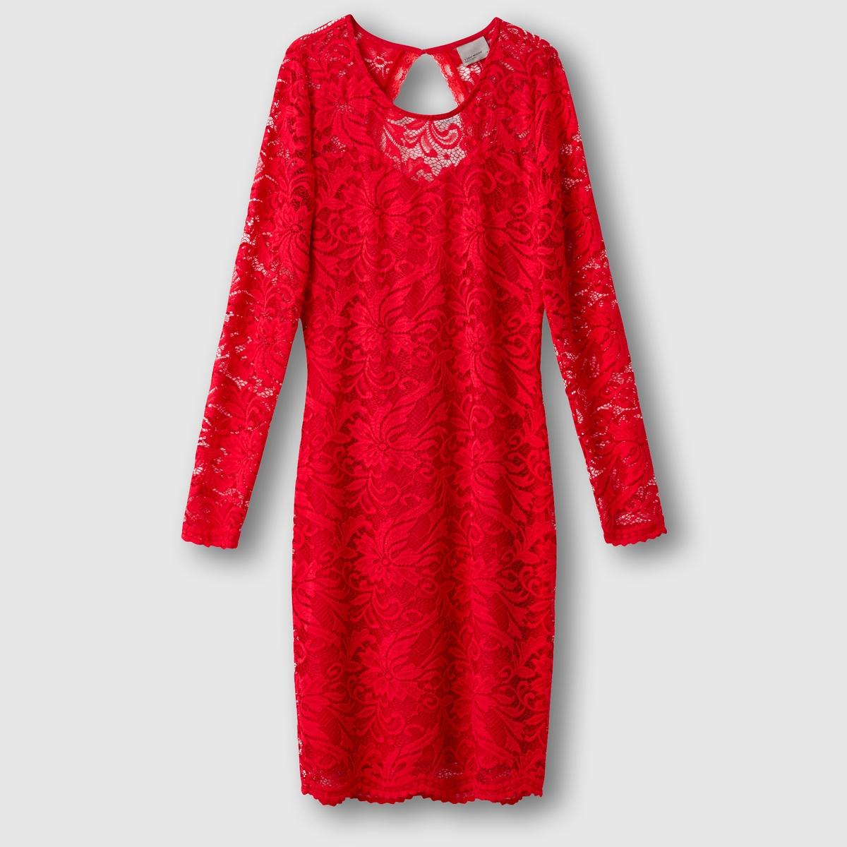 Платье с длинными рукавамиСостав &amp; ДеталиМатериал        90% Нейлона®, 10% эластана      Марка        VERO MODA               Уход     Следуйте рекомендациям по уходу, указанным на этикетке изделия.<br><br>Цвет: красный<br>Размер: XL.M