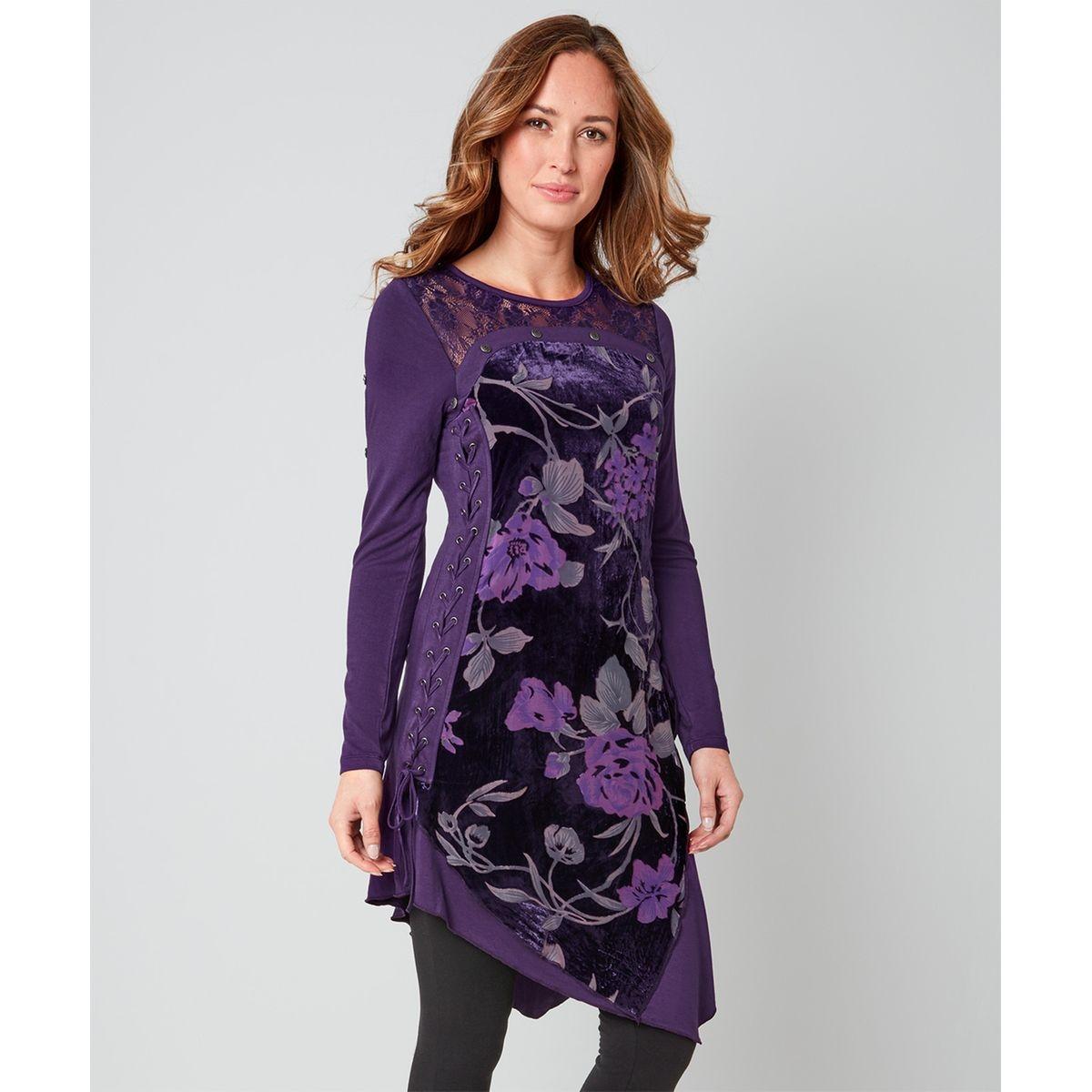 Tunique florale avec détails corset