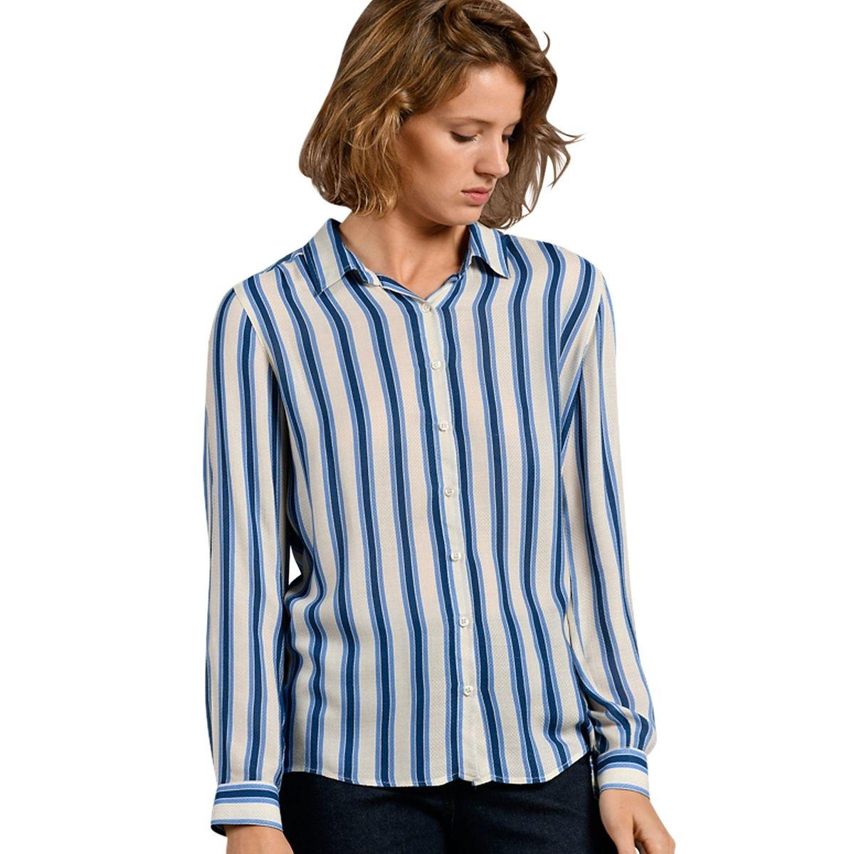 Chemise rayée bicolore