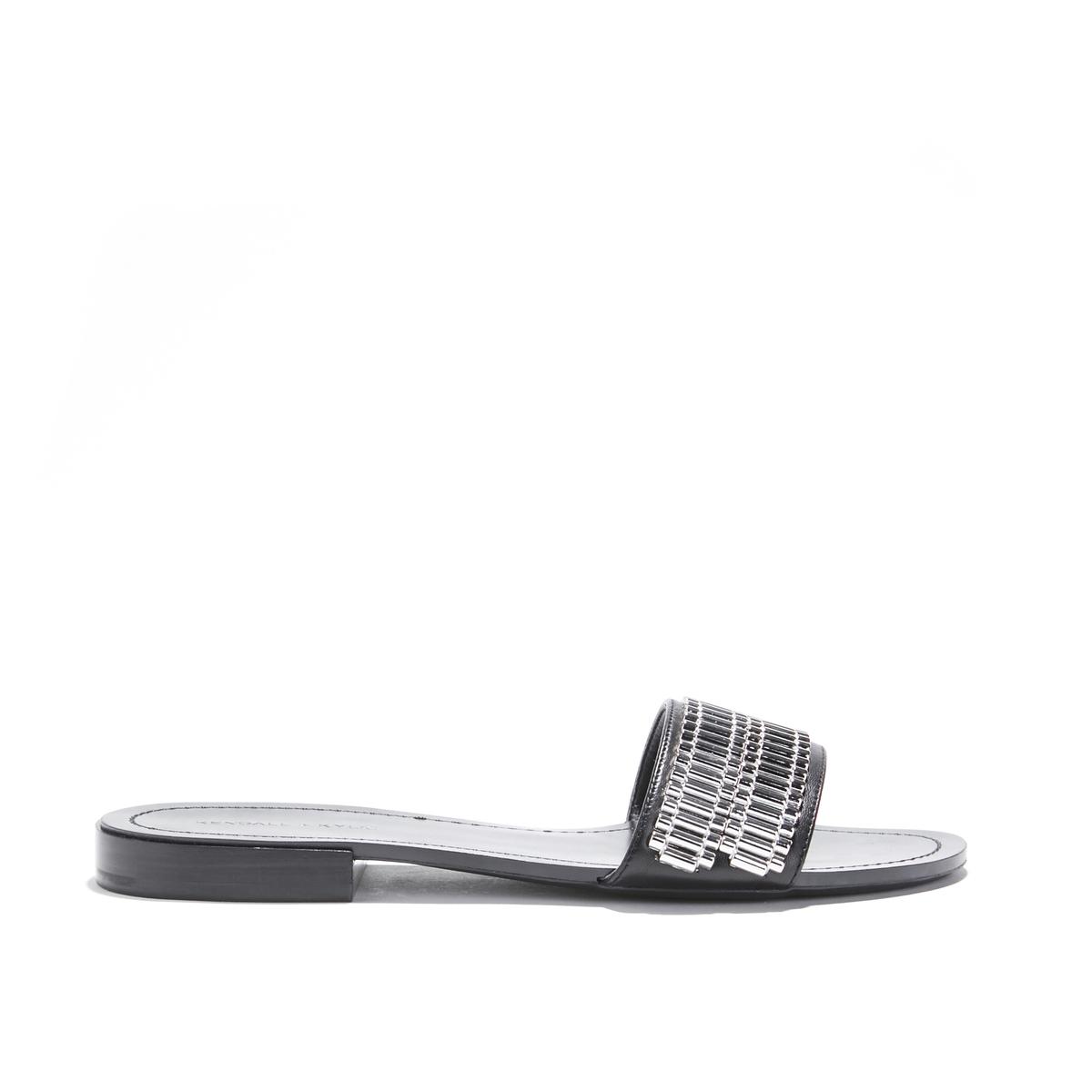 Туфли без задника с ремешками в виде цепочки на плоском каблуке KKENNEDY