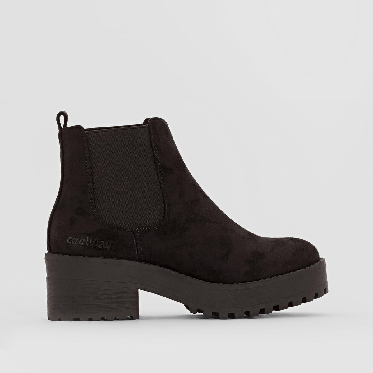 Ботильоны BASHAПодкладка : Микрофибра    Стелька : Микрофибра     Подошва : Резина  Высота каблука : 5 см Высота голенища  : 11 см.   Форма каблука : Широкий    Носок : Закругленный.   Застежка : Без застежки<br><br>Цвет: черный
