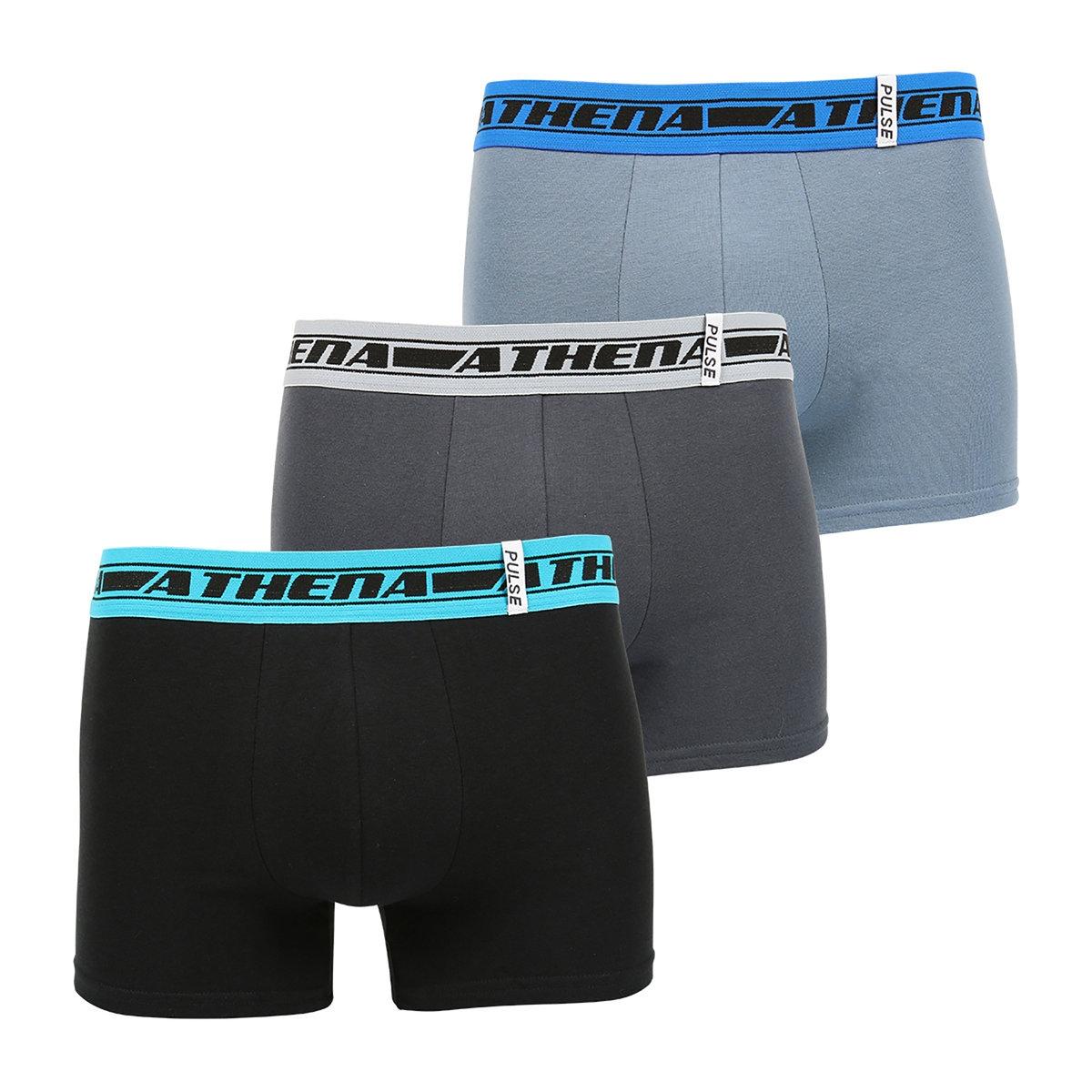 Трусы-боксеры (комплект из 3 штук), L563 Pulse<br><br>Цвет: черный/ белый+фиолетовый+зеленый