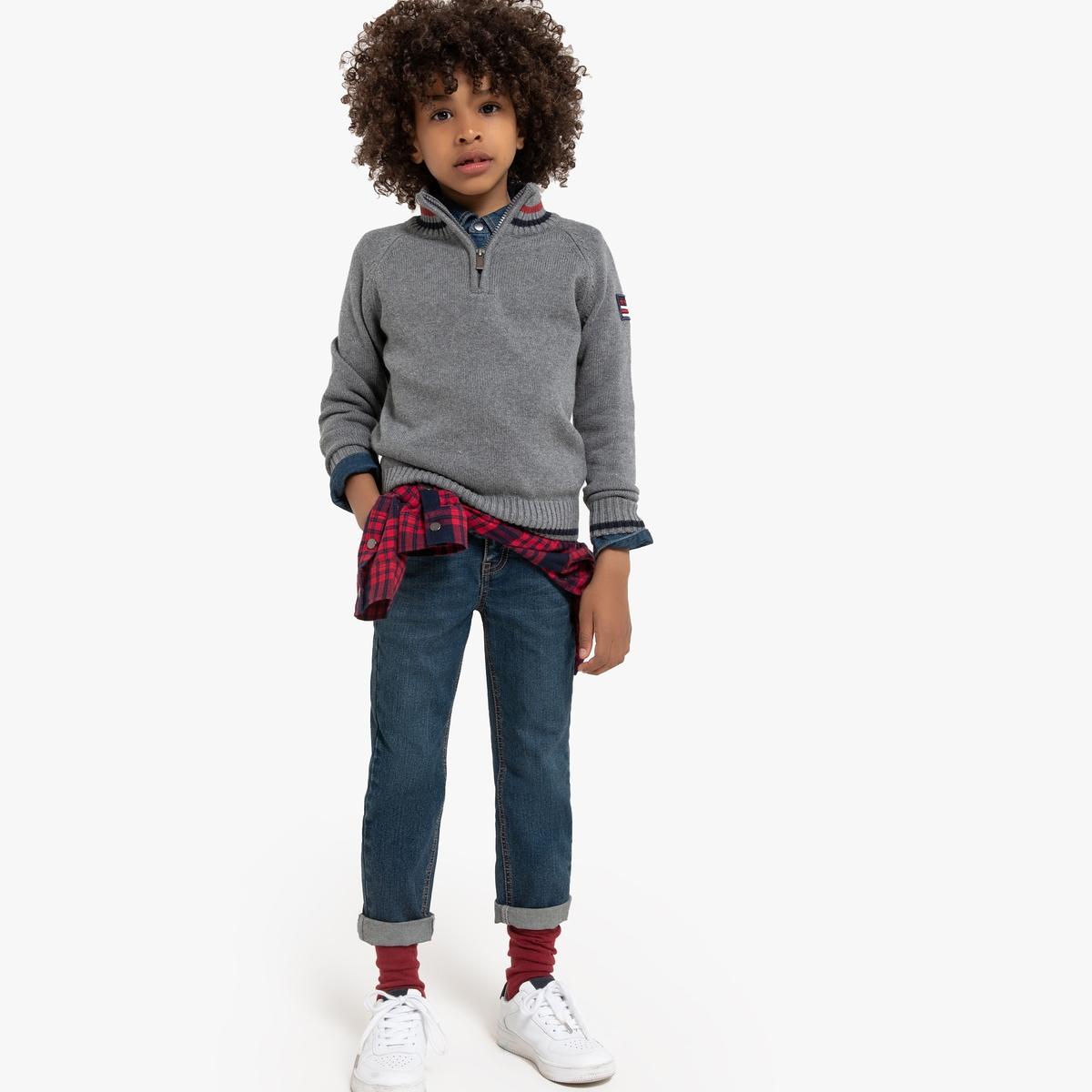 цена Пуловер La Redoute С воротником-стойкой 3 года - 94 см серый онлайн в 2017 году
