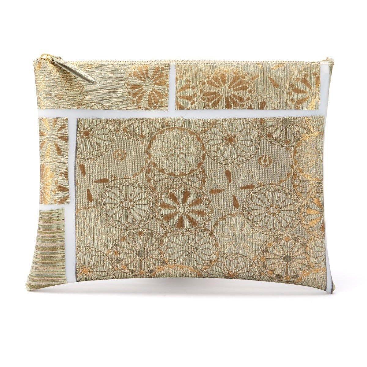 Pochette large tissus précieux Fil textile Milano