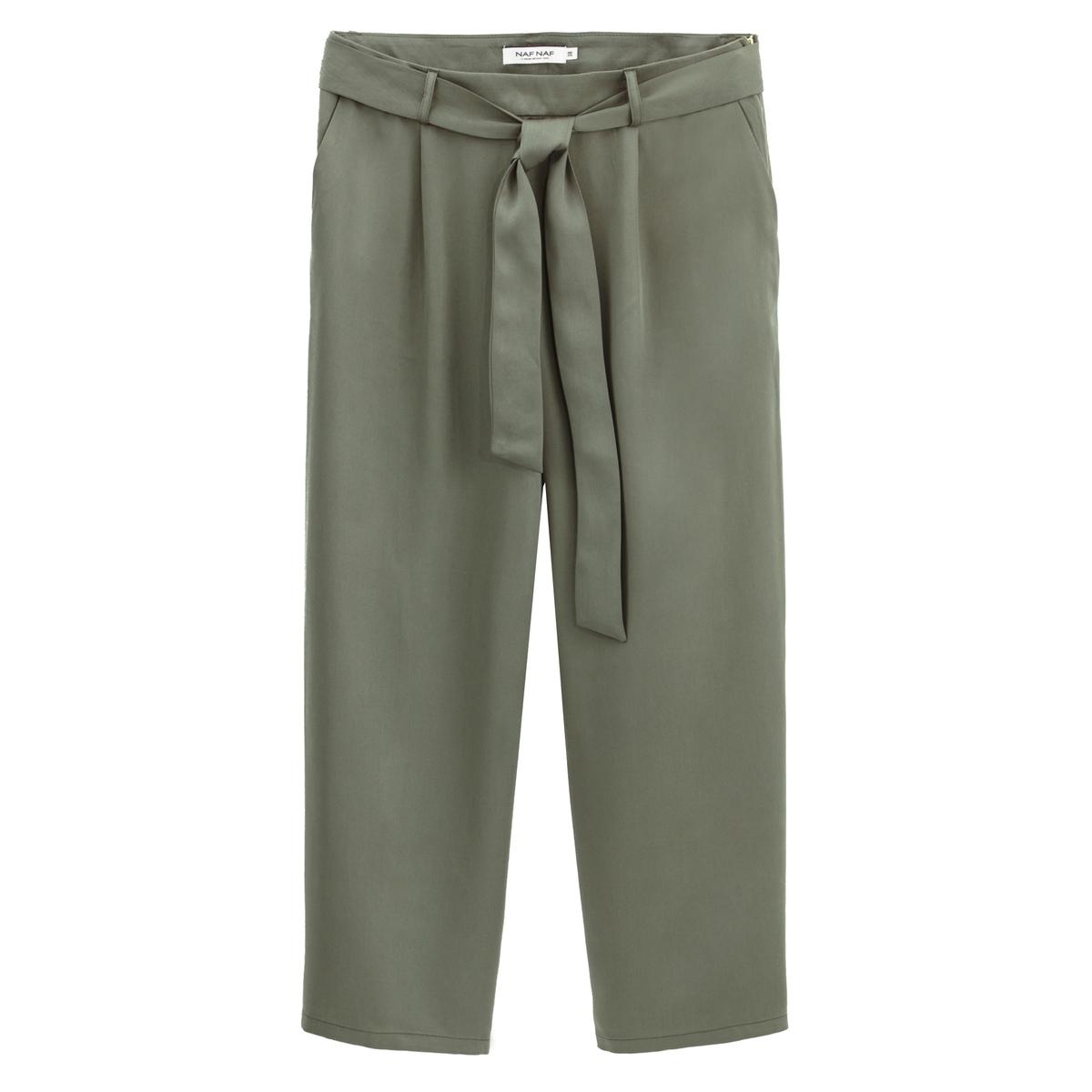 Брюки La Redoute Широкие с высокой талией из лиоцелла 42 (FR) - 48 (RUS) зеленый брюки la redoute с высокой талией из лиоцелла 38 fr 44 rus бежевый
