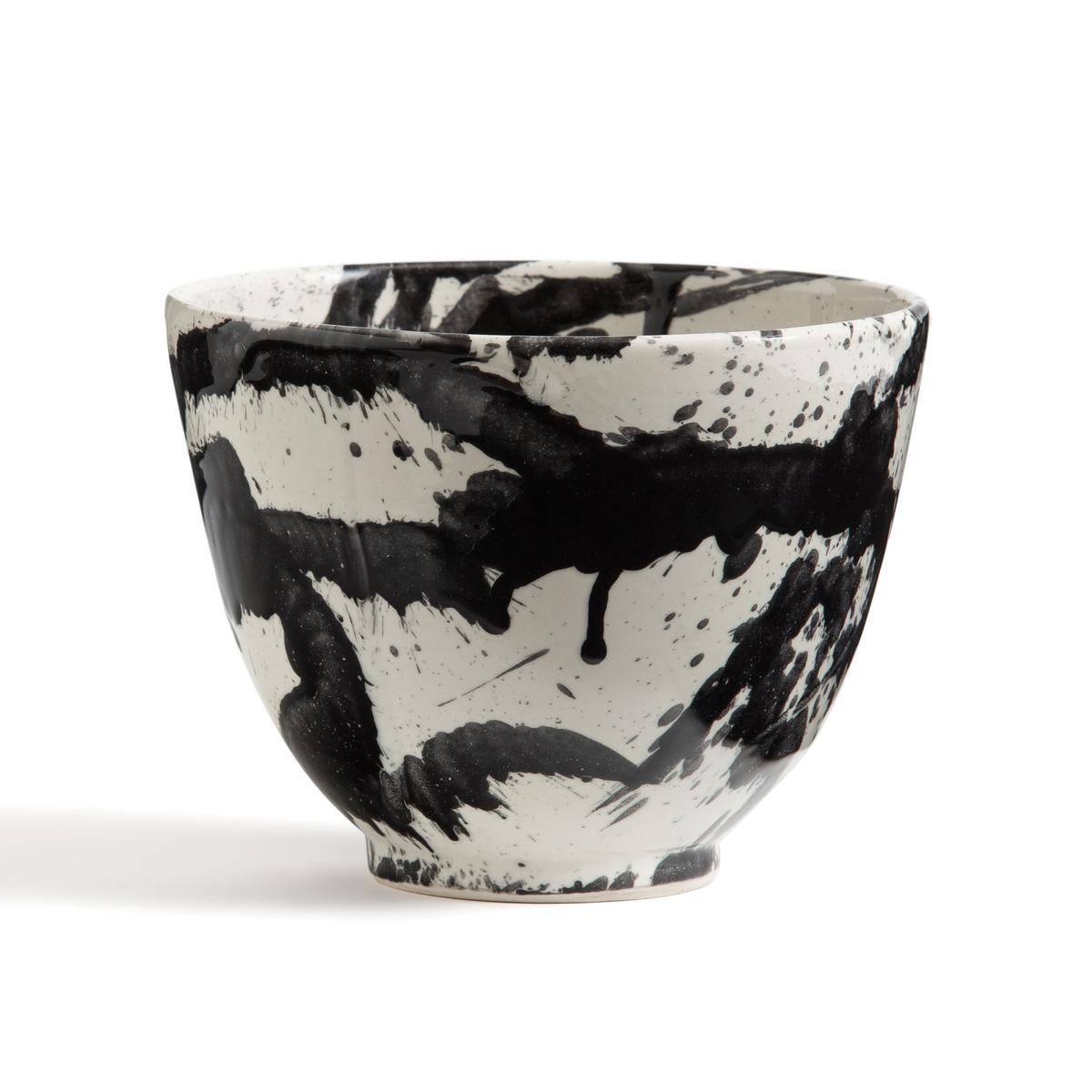 Фото - Салатница LaRedoute Из керамики Tasuku единый размер черный 4 десертные laredoute тарелки из глазурованной керамики anika единый размер серый