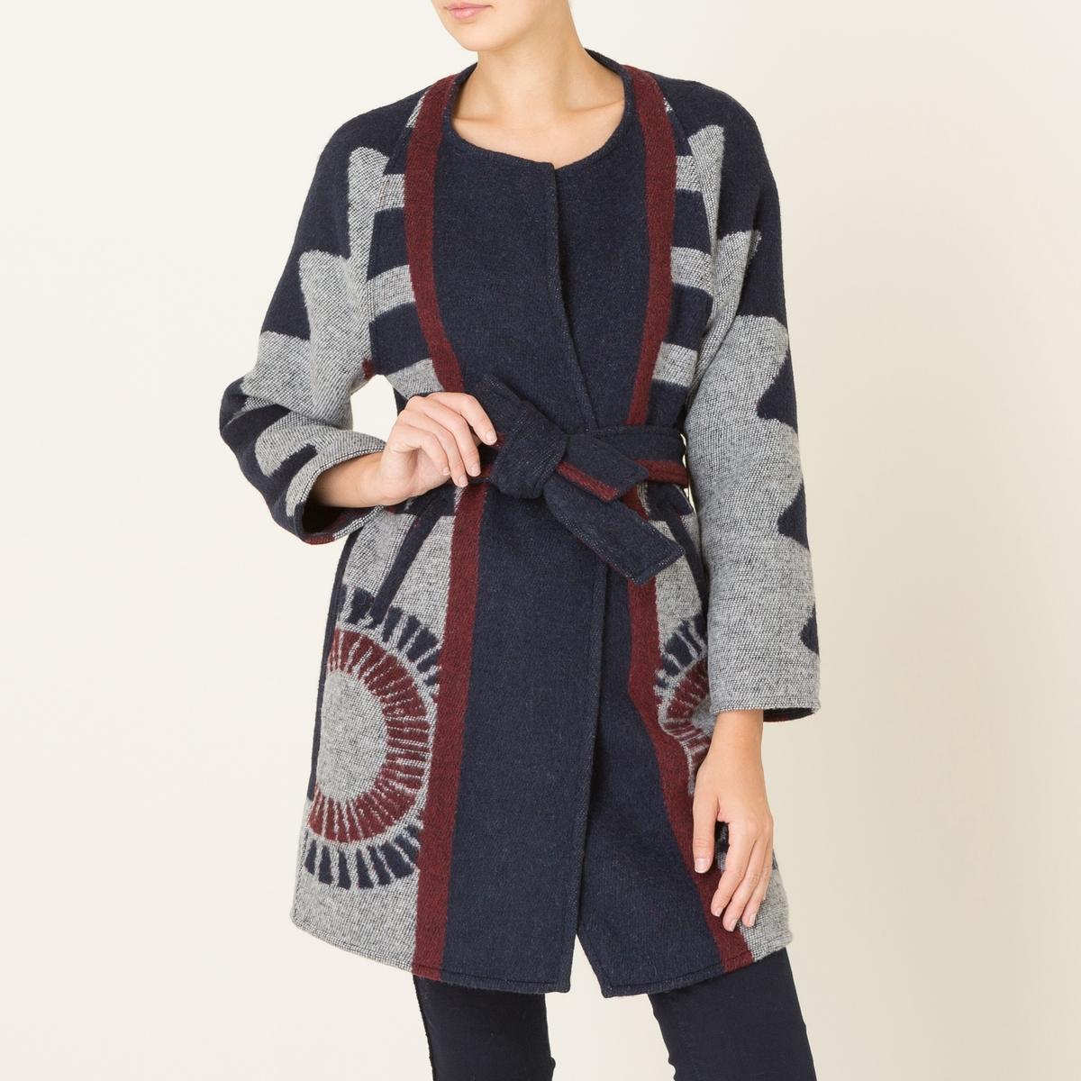 Пальто KYLE пальто длинное с зигзагообразным рисунком