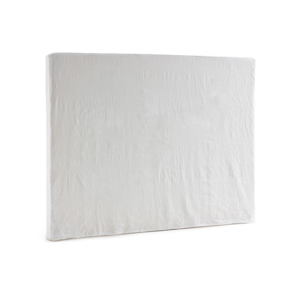 Чехол LaRedoute На кроватное изголовье 100 лен STADIA высота 120 см 120 x 10 x 160 см белый
