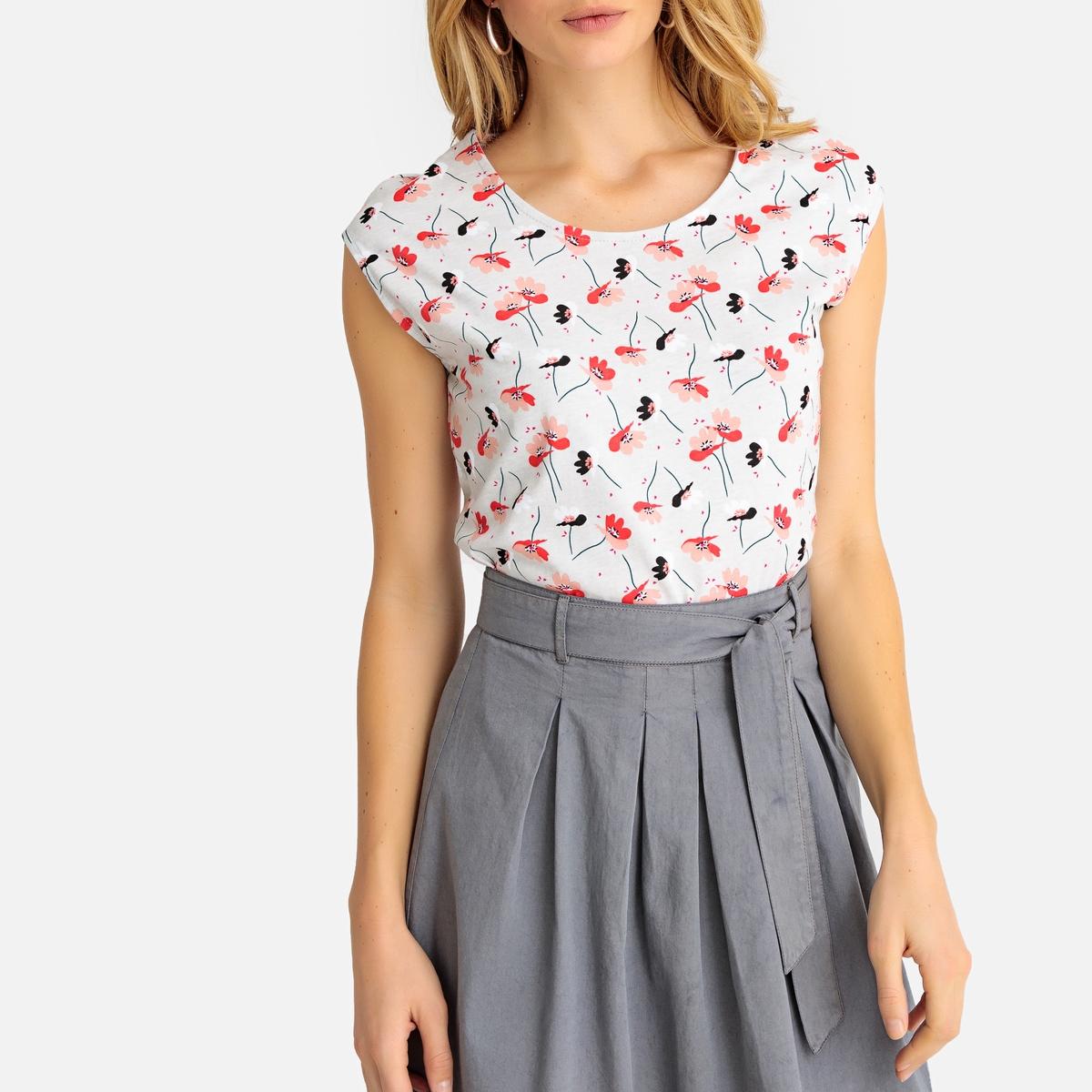 Imagen secundaria de producto de Camiseta estampada con cuello redondo, sin mangas - Anne weyburn