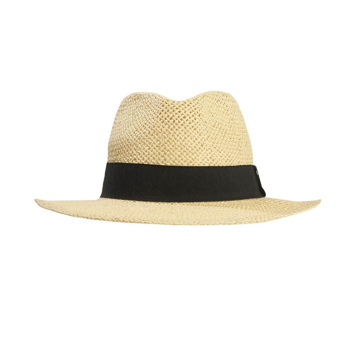 Шляпа соломеннаяСостав и описание :Материал : 100% соломыМарка : Atelier R.Размеры : окружность головы 56 см Отделка широким галуном.<br><br>Цвет: серо-бежевый