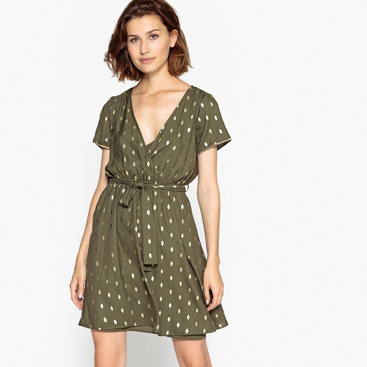 Sukienka kopertowa z krótkim rękawem