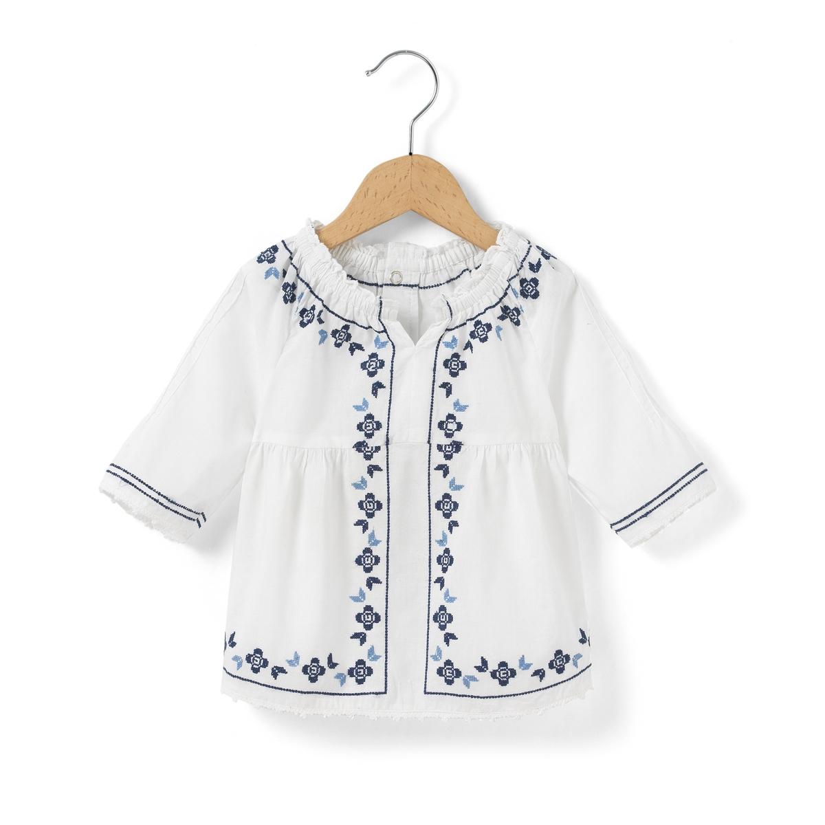 Блузка с вышивкой 1 мес-3 лет