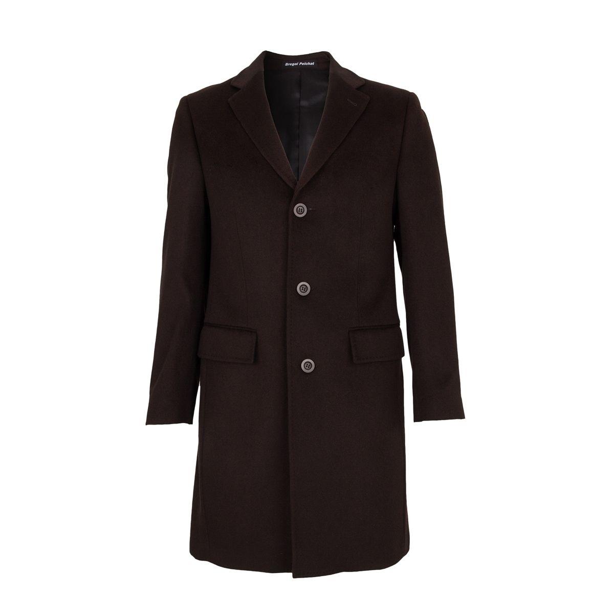 Manteau trois Quart 100% Cachemire Marron