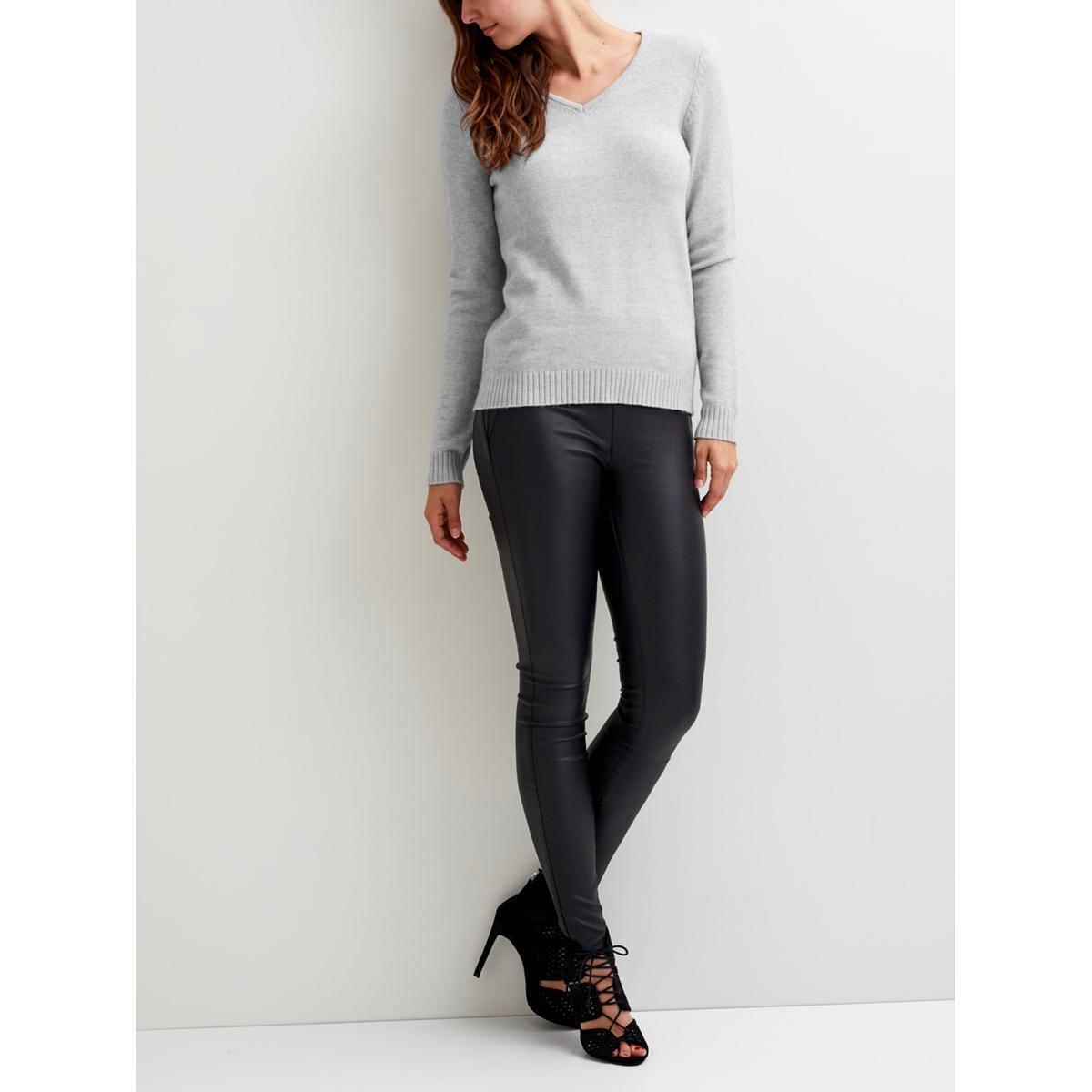 Пуловер с V-образным вырезом из тонкого трикотажа пуловер с v образным вырезом