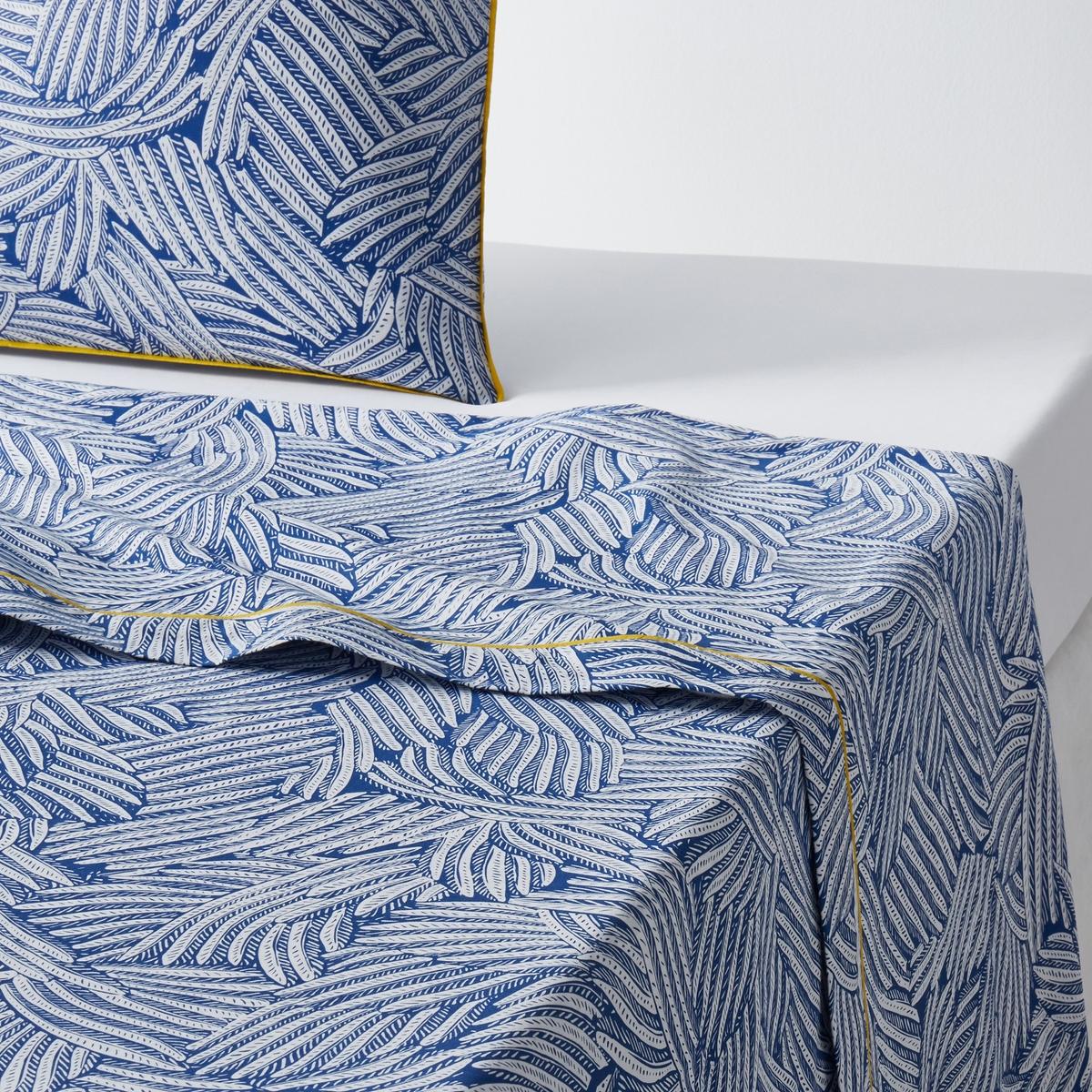 Простыня гладкая с рисунком, Mistral Bleu