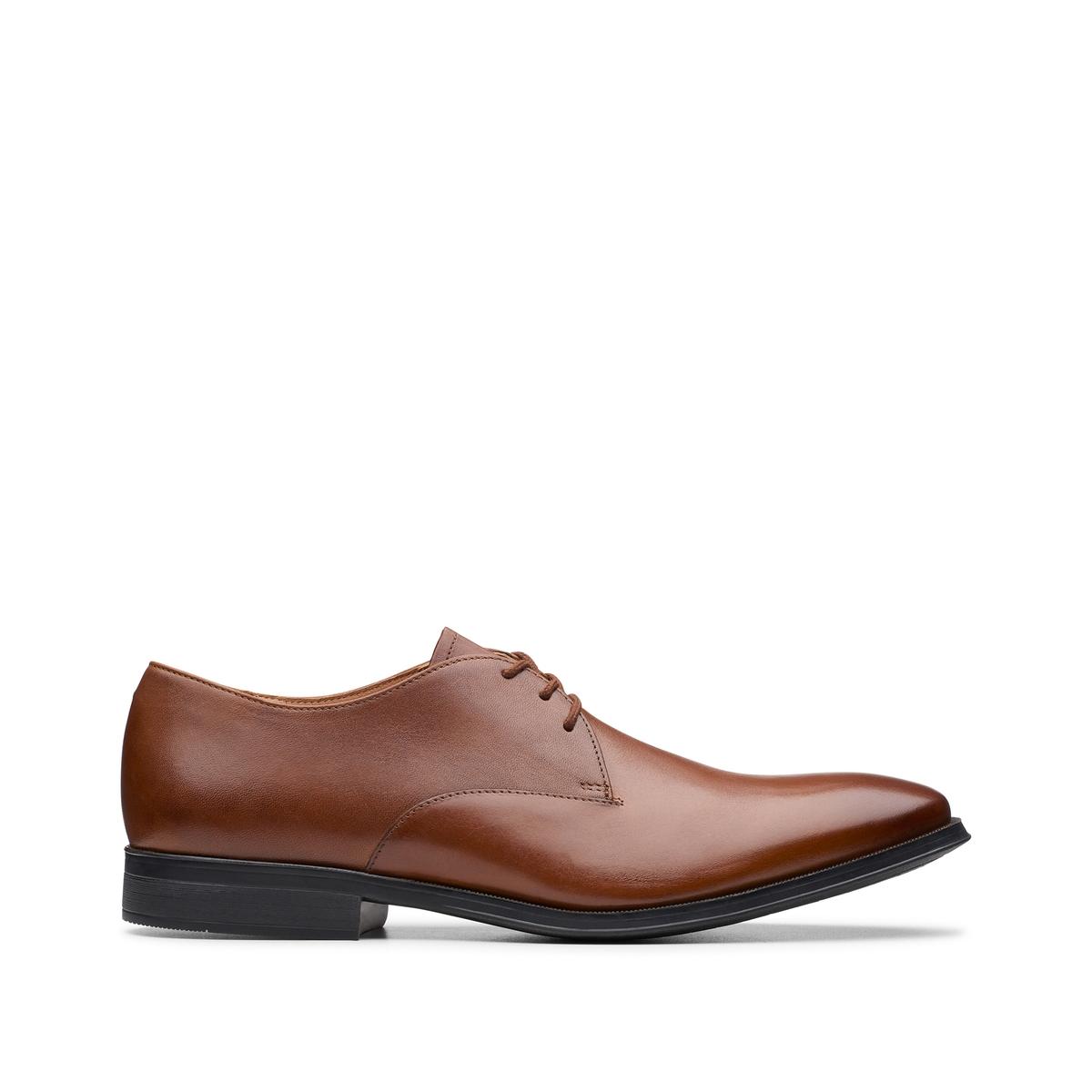 цена Ботинки-дерби La Redoute Кожаные Gilman Walk 44 каштановый онлайн в 2017 году