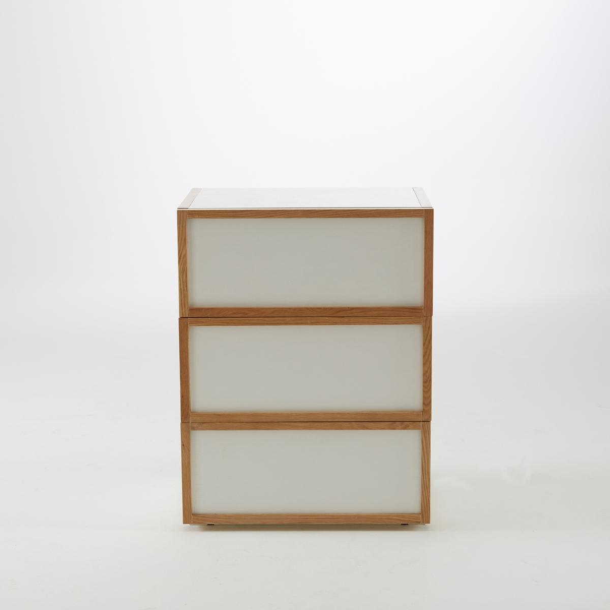 Комод с 3 ящиками Compo деревянная заготовка мини комод с 6 ящиками no name 146309
