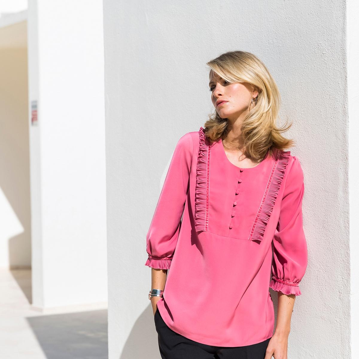 Imagen adicional 3 de producto de Pantalón recto, pliegues marcados delante y detrás - Anne weyburn