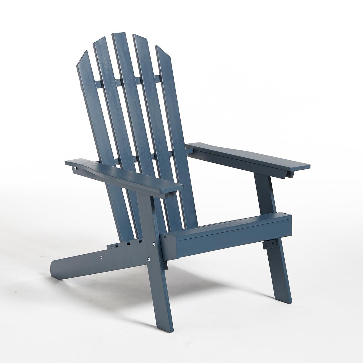 Стильное садовое кресло Adirondack, 3 положения, гамма  ZedaСадовое кресло Zeda в стиле Адирондак. Сделанное по образу легендарного американского кресла, удобного и функционального, это кресло соединяет в себе влияние природы и несравненный комфорт !Немного небрежный шарм начала XXвека   придает легкий налет старины как вашей террасе, так и всему интерьеру!Характеристики :- Из акации, выращенной в лесах устойчивого управления- С покрытием под тиковое дерево или цветнымКресло в стиле Адирондак доставляется в разобранном виде, инструкция по сборке в комплекте.Описание чехла для подушки Bayac Размеры садового кресла :3 положения Длина : 69 смШирина : 89/94,5Высота : 86,5/98 см Размеры сиденья :Длина  53x Ширина 45x высота 34Размеры упаковки :1 посылкаДлина 98 смШирина 55,5 см Высота 15 смВес 10,5 кг Качество :Акация обладает хорошими механическими свойствами (прочность, устойчивость к насекомым и грибам, устойчивость к непогоде и чередованию сухой и влажной погоды). Доставка:Садовое кресло поставляется готовым к сборке . Товар может быть доставлен прямо до квартиры при предварительной договоренности по телефону!Внимание! Убедитесь, что товар проходит по габаритам (дверные проемы, лестницы, лифты).<br><br>Цвет: синий<br>Размер: единый размер