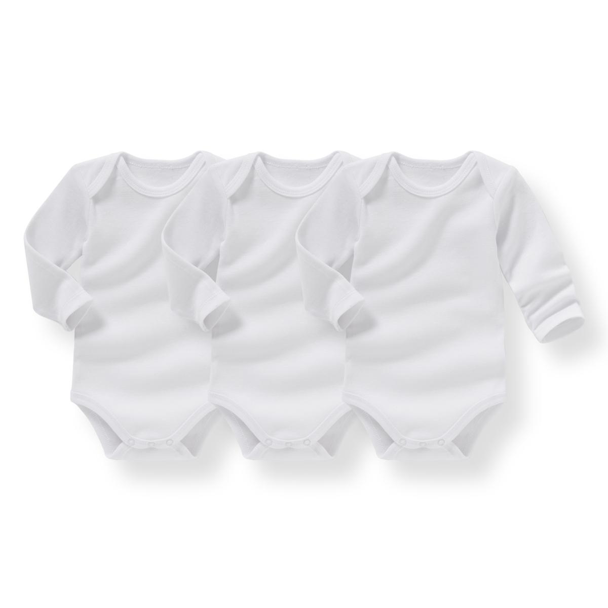 Комплект из хлопковых боди для малышейДетали  •  Для новорожденных •  Длинные рукава •  ХлопокСостав и уход  •  100% хлопок •  Температура стирки 40° •  Сухая чистка и отбеливание запрещены   •  Машинная сушка на деликатном режиме •  Низкая температура глажки<br><br>Цвет: белый<br>Размер: 1 мес. - 54 см.3 мес. - 60 см.6 мес. - 67 см.9 мес. - 71 см.1 год - 74 см.2 года - 86 см.3 года - 94 см