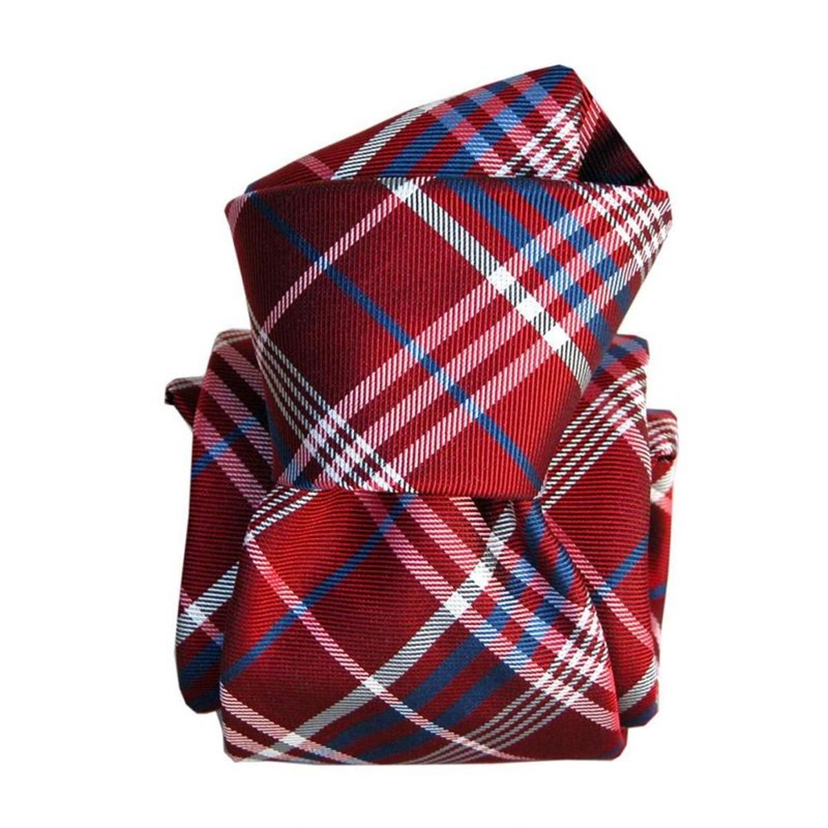 Cravate luxe Livigno. Soie carreaux