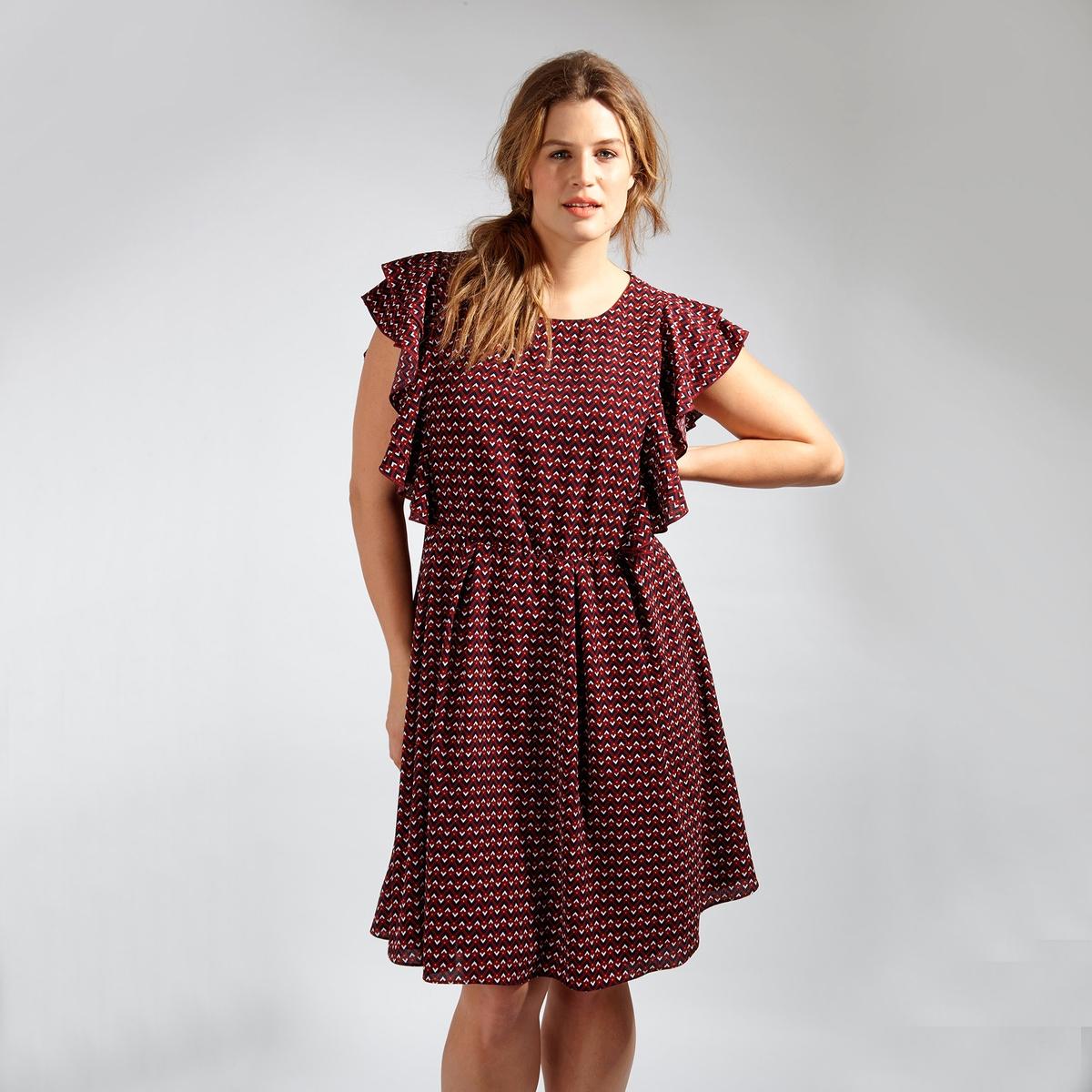 ПлатьеПлатье - KOKO BY KOKO. Застежка на молнию сзади. Длина до колен. 100% полиэстер<br><br>Цвет: набивной рисунок<br>Размер: 58/60 (FR) - 64/66 (RUS)