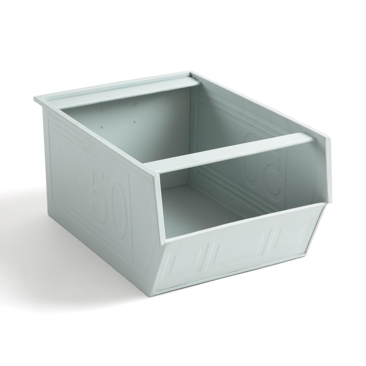 Металлический LaRedoute Ящик Will 37 x 28 20 см серый