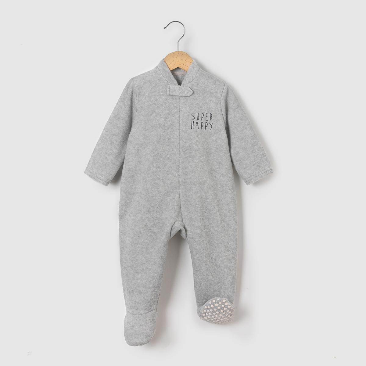 Пижама-комбинезон флисовая 0 -3 лет пижамы и ночные сорочки bambinizon пижама комбинезон на кнопках сафари