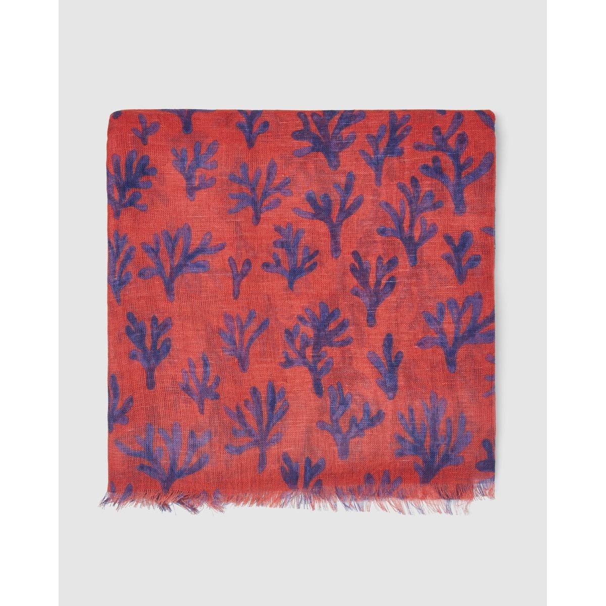 Foulard  en coton et en lin imprimé