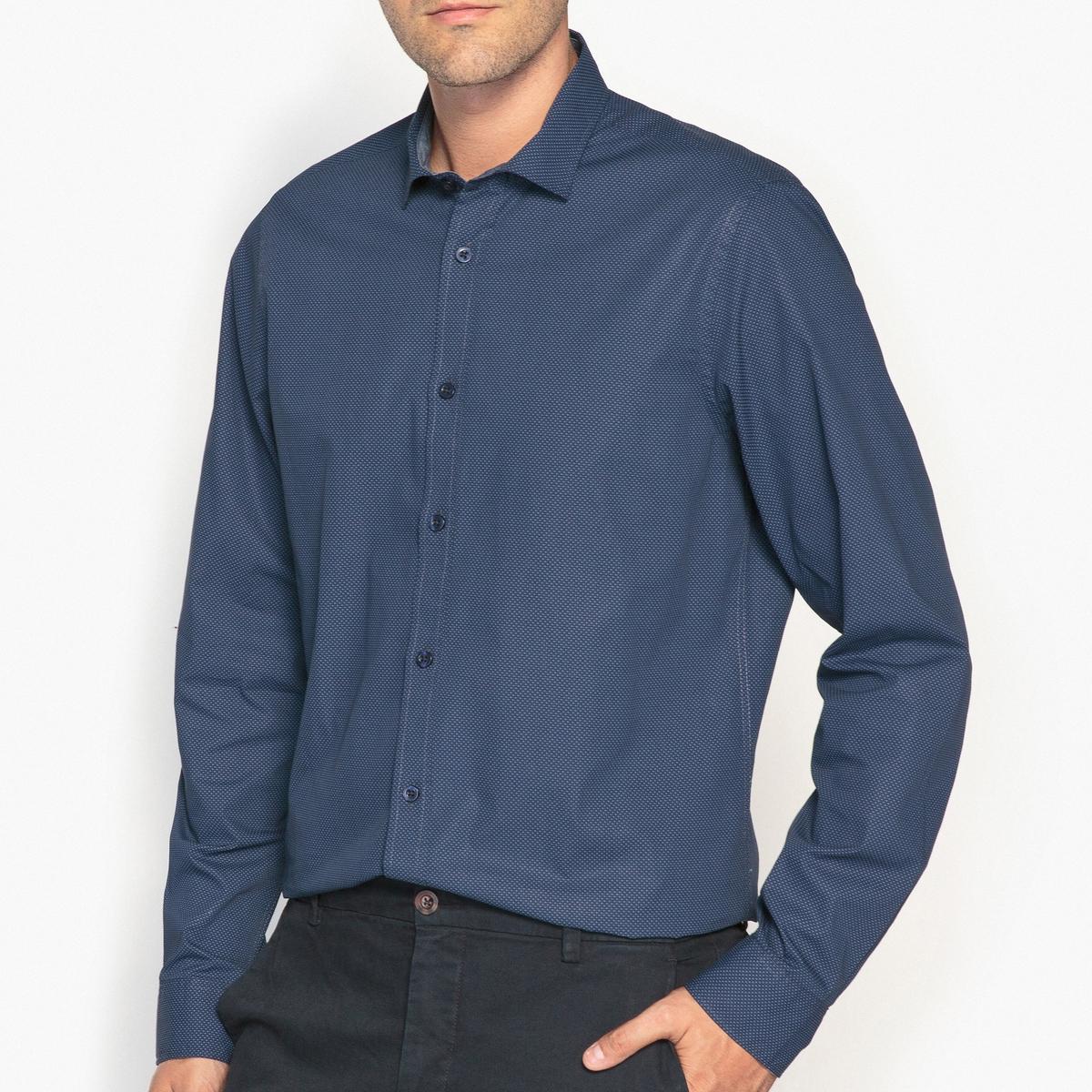 Рубашка-слим с рисунком, 100% хлопок