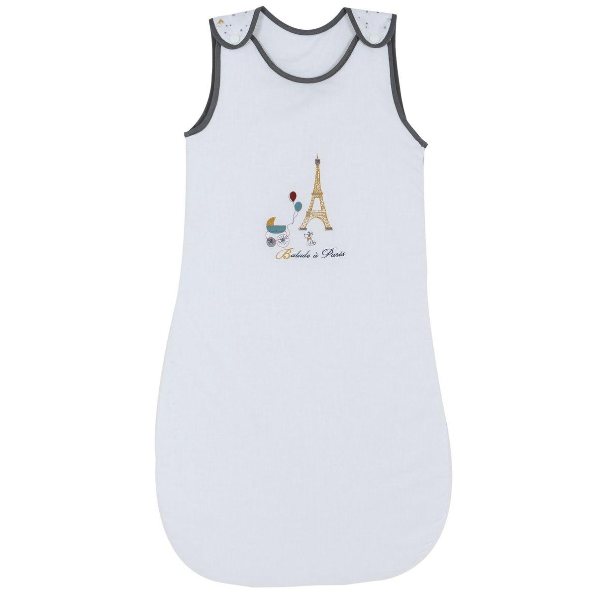 Gigoteuse naissance P'tit Basile Collection 'Little Paris' - 6-24mois - Blanc