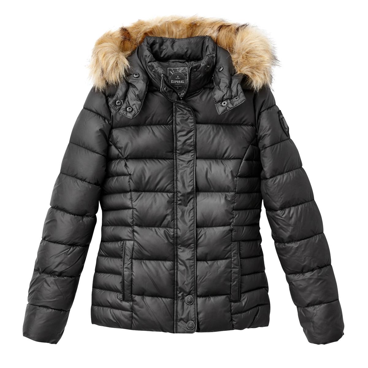 Куртка стеганая с капюшономСтеганая куртка KAPORAL отличный выбор для защиты от холода и дождя этой зимой . Эта стеганая куртка на молнии  с капюшоном объединяет в себе комфорт и стиль .Детали •  Длина : средняя •  Капюшон •  Застежка на молнию •  С капюшономСостав и уход  •  Следуйте советам по уходу, указанным на этикетке<br><br>Цвет: бордовый,синий морской,черный<br>Размер: M.S.M.S.XL.L.L.XL.XL