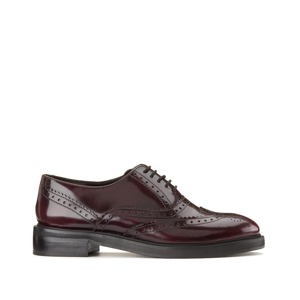 Ботинки-дерби LaRedoute Из кожи с разукрашенным мыском 42 красный ботинки дерби из кожи teadale maira