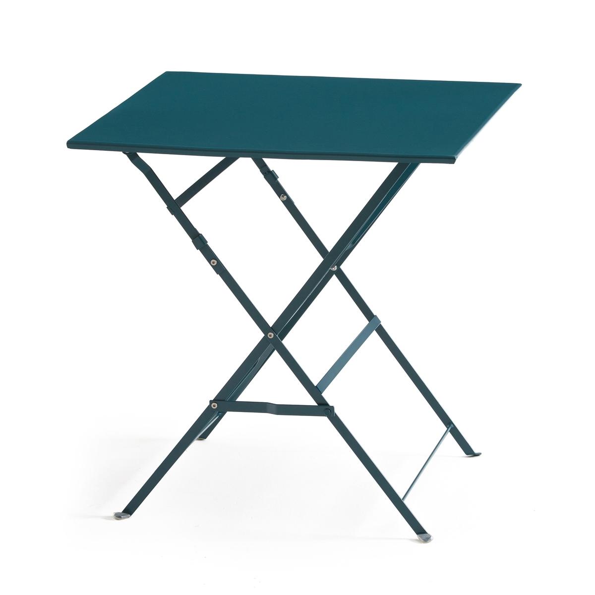Стол LaRedoute Складной квадратной формы из металла OZEVAN единый размер синий