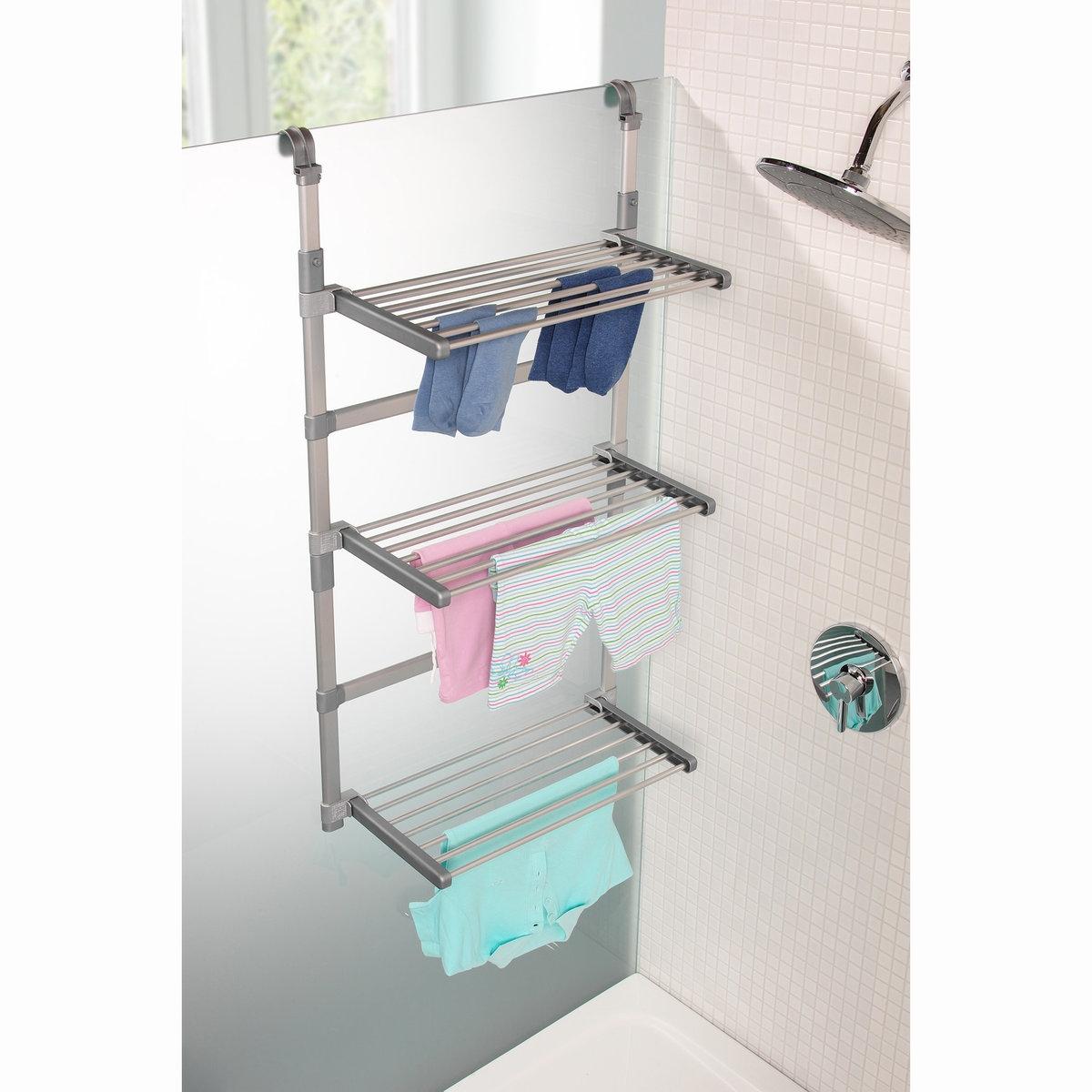 Сушилка для белья модульная, Ar?gloТрехуровневая сушилка для полотенец, губок и мелкого белья позволяет сэкономить пространство в душевой кабине.Характеристики модульной сушилки для белья Ar?glo:3 уровня, каждый из которых складывается и адаптируется по высоте.Крепится к стене ванной или боковой поверхности душевой кабины.Каркас из алюминия и пластика.Длина сушильной поверхности: 9 метров.Найдите коллекцию для хранения вещей на сайте laredoute.ru.Размеры модульной сушилки для белья Ar?glo:Д. 50 x В. 95 - 135 x Г. 25 см0, 270 кг.<br><br>Цвет: серый серебристый