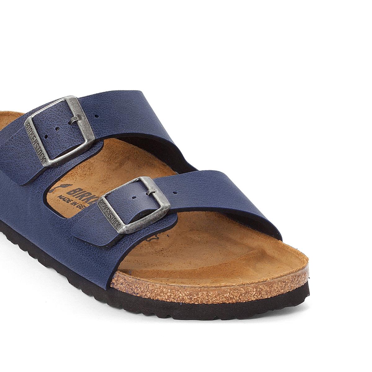 Туфли без задника синтетическиеДетали  •  Туфли без задника •  Застежка : без застежки •  Открытый мысокСостав и уход  •  Верх 100% синтетический материал •  Подкладка 100% текстиль •  Стелька 100% кожа •  Подошва 100% ЭВА<br><br>Цвет: темно-синий