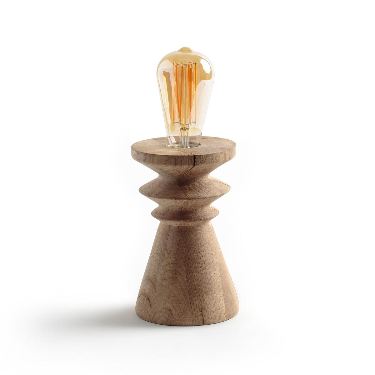Лампа настольная, RusniaНастольная лампа Rusnia. Использовать с лампой LED с декоративной нитью накала, представленной на нашем сайте.Характеристики :- Из необработанного дуба с покрытием под натуральное дерево- Патрон E27 для лампы 60 Вт (продается отдельно).- Совместима с лампами классов энергопотребления ABCDE. - Кабель с тканевой оболочкой белого цвета. - Использовать с лампами LED с декоративными нитями накала, представленными на сайте ampm.ruРазмеры :- Ш.12 x В.19 x Г.12 см.<br><br>Цвет: серо-бежевый