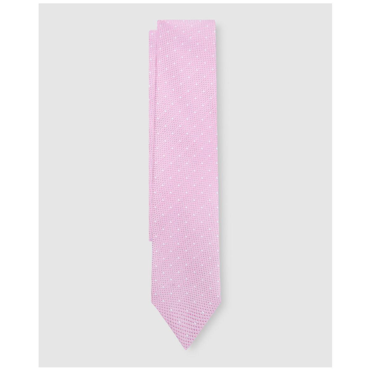 Cravate en soie microimprimé à motif