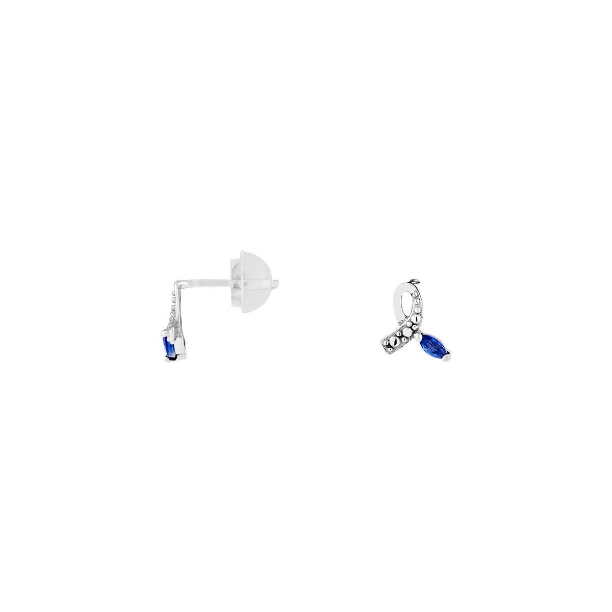 Boucles d'oreilles en Or 375/1000 et Saphir