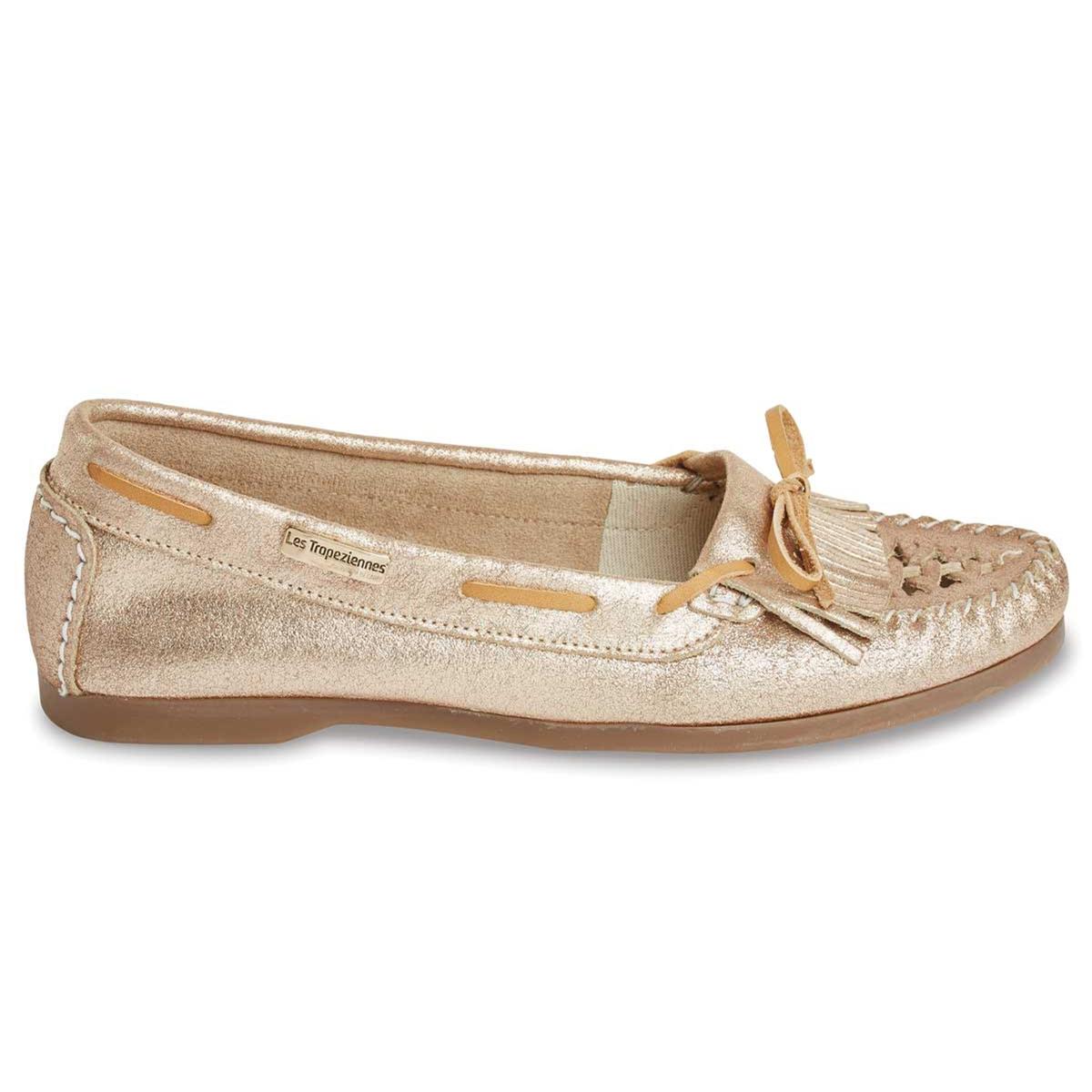 Мокасины кожаные ParaguayВерх: кожа. Стелька: кожа.  Подошва: синтетика.Форма каблука: плоский каблук.  Мысок: закругленный.Застежка: без застежки.<br><br>Цвет: золотистый<br>Размер: 37.39.40