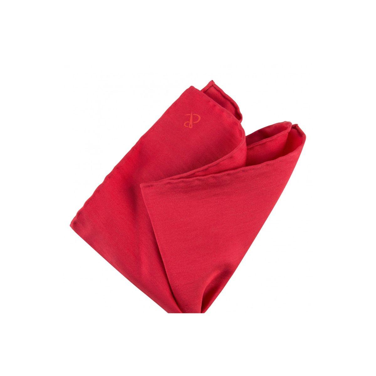 Pochette de costume en soie unie