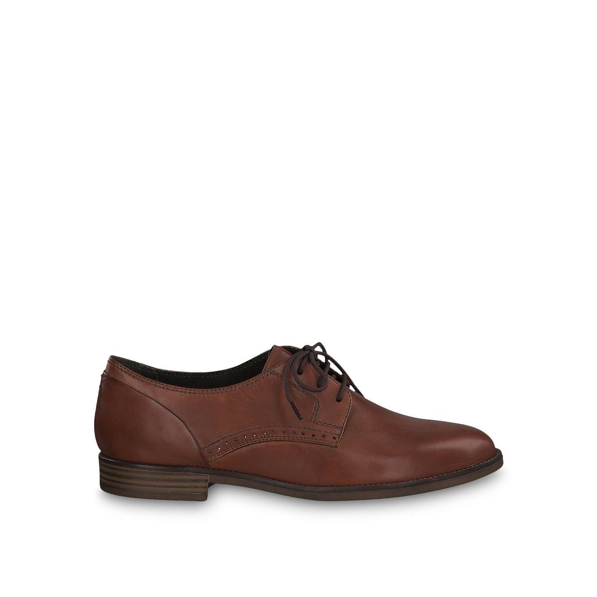 Ботинки-дерби La Redoute Из кожи Lyna 41 каштановый цена 2017