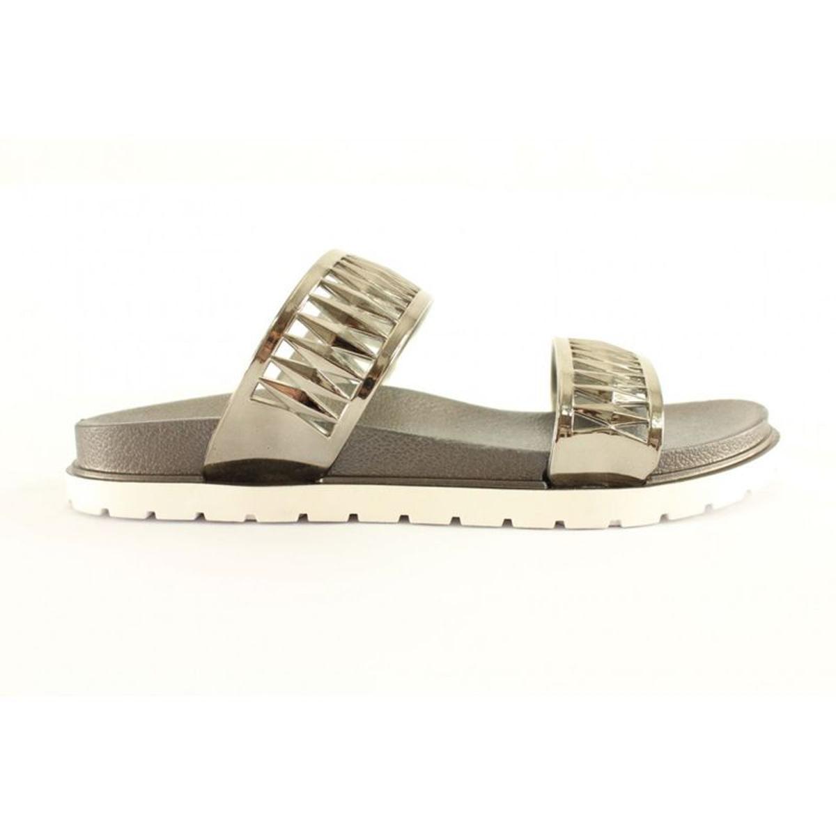 sandales nu-pieds argentées