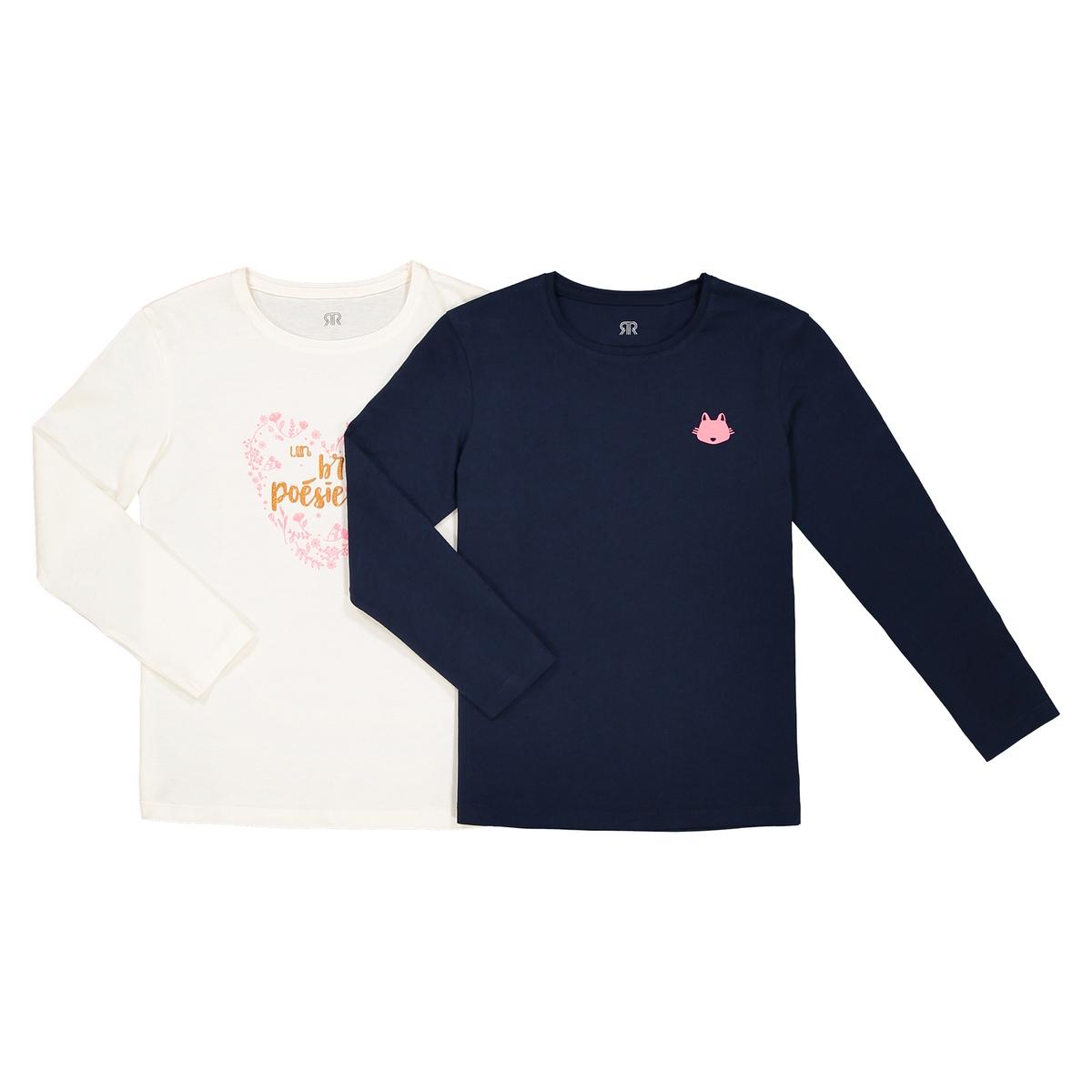 Комплект из 2 футболок с длинными рукавами 3-12 лет