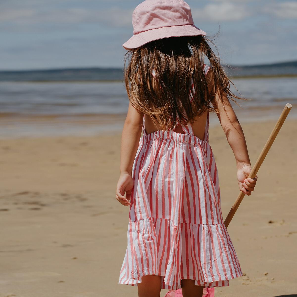 Vestido de alças às riscas, 3-12 anos